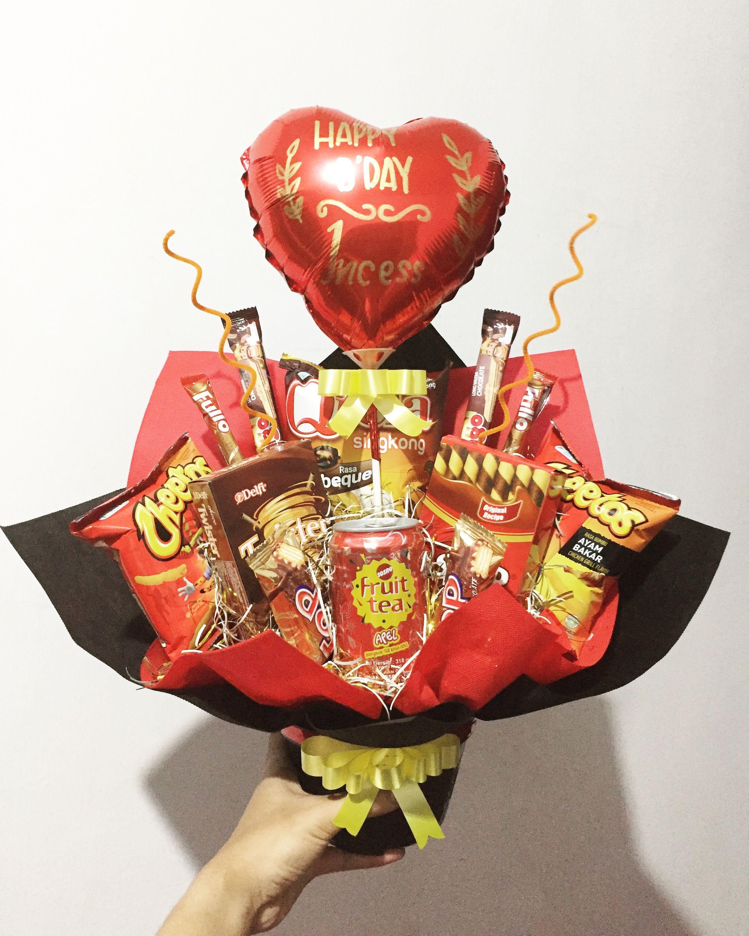 Snack Bouquet For Birthday Kreatif Ide Rangkaian Bunga