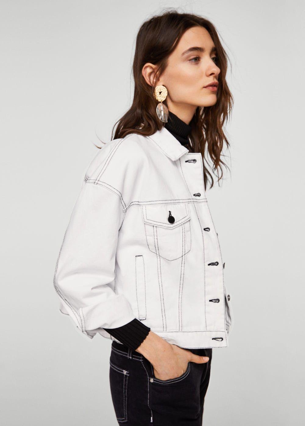 790939248234 Blouson denim coutures contrastantes - Femme   France   Shopping ...