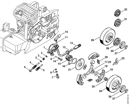 Stihl 029 Parts Diagram Super Have Had It Worked On 3 Times ...
