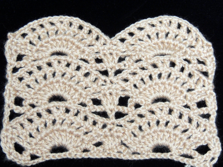 Crochet punto abanico 2 tejidos pinterest v deos - Punto de ganchillo para mantas ...