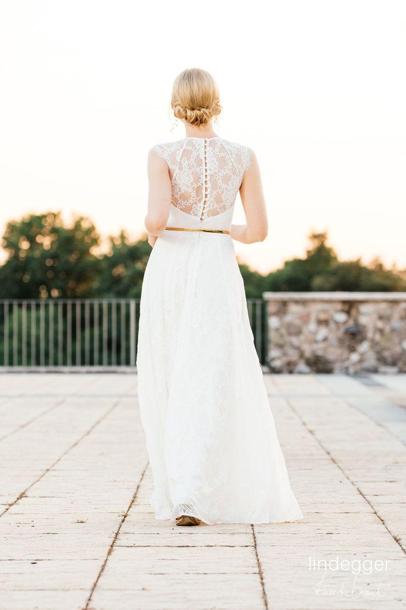 Vintage Brautkleid mit transparentem Rücken aus toller Vintage ...