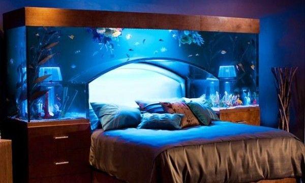 Schlafzimmer merkwürdig Bett Aquarium Fische creative ideas - sch ner wohnen schlafzimmer