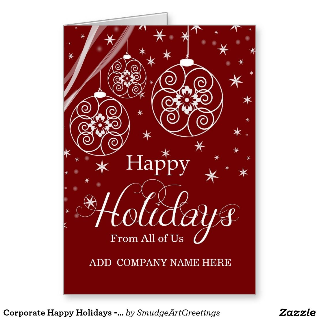 Corporate happy holidays from all of us red greeting card corporate happy holidays from all of us red greeting card http m4hsunfo