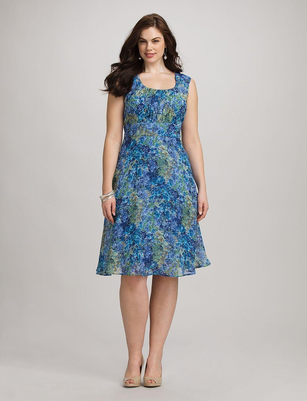 Plus Size Dresses Plus Size Watercolor Floral Dress Dressbarn