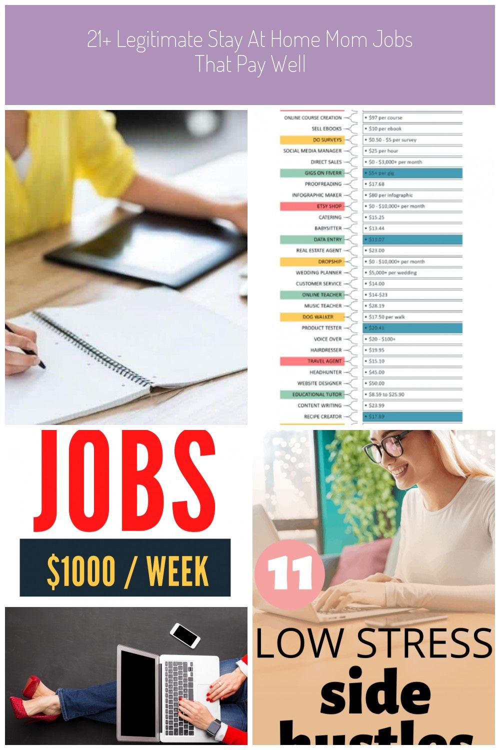 Looking for the best stay at home mom jobs that pay well