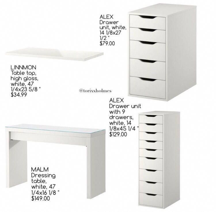 Meubles De Vanite Ikea Bathroomfurniturevanitydrawers Bedroom Rangements Maquillage Rangementsmaquill En 2020 Vanite Ikea Deco Chambre Ikea Design Chambre Ikea
