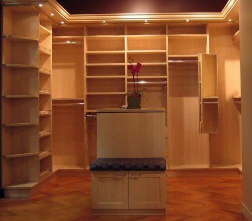 California Closets Elegant Walk In Closet System In Candlelight