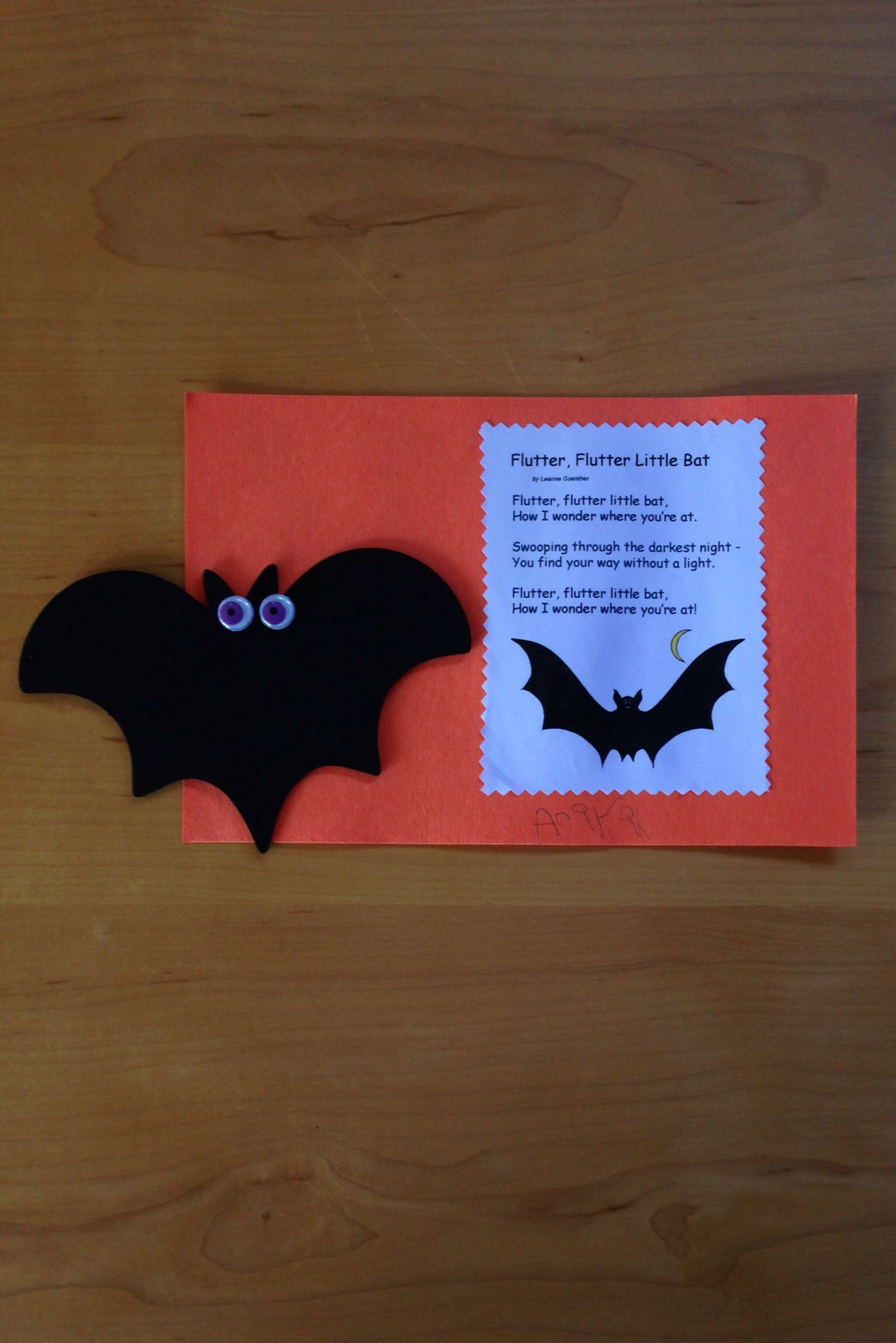 Preschool Bat Craft And Song Photo By Kathleen Intile