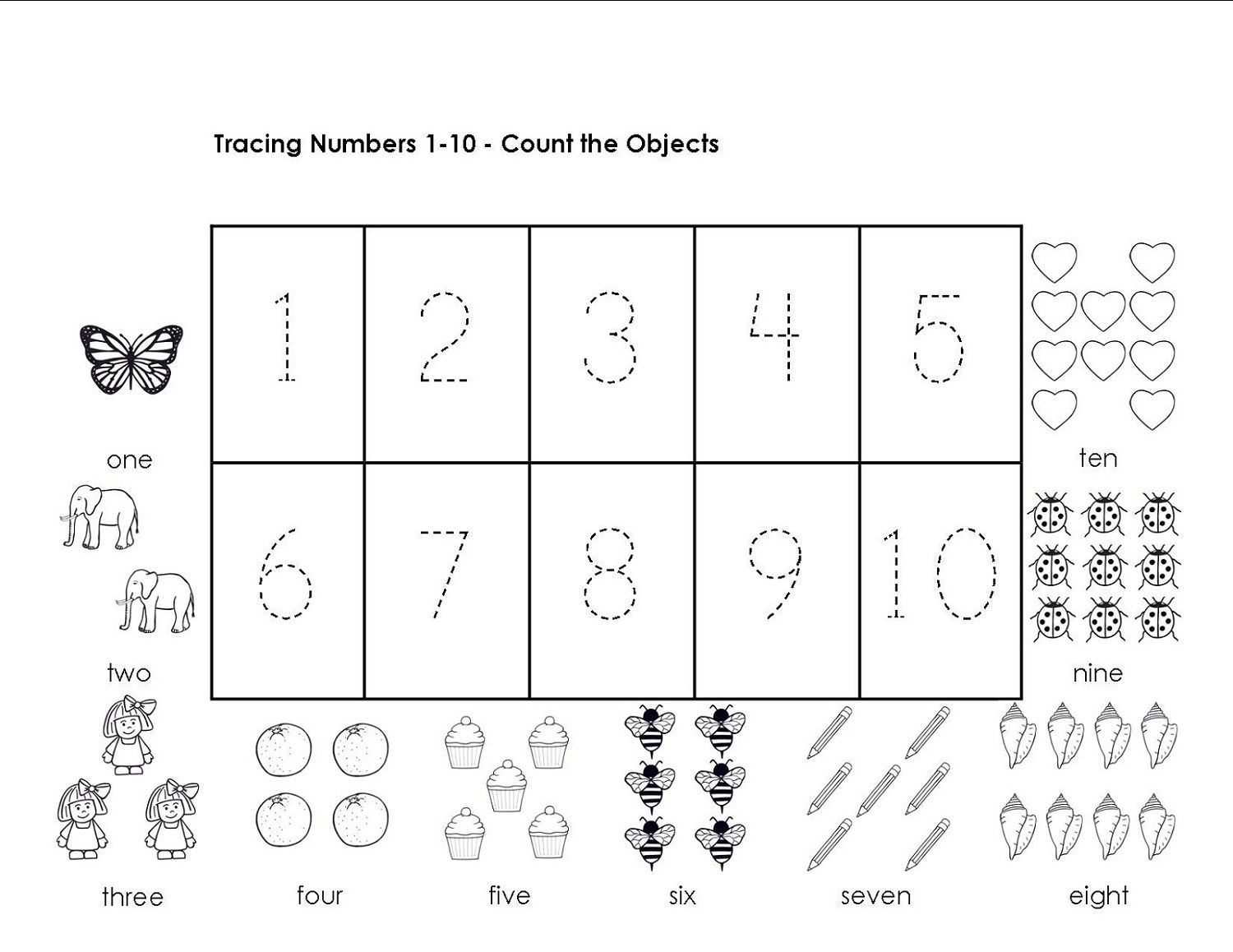 Traceable Numbers Worksheets