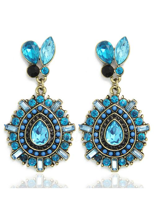 Jewelry & Watches - $3.51 - Women's Earrings Alloy Rhinestones (Set of 2) Jewelry & Watches (1525062116)