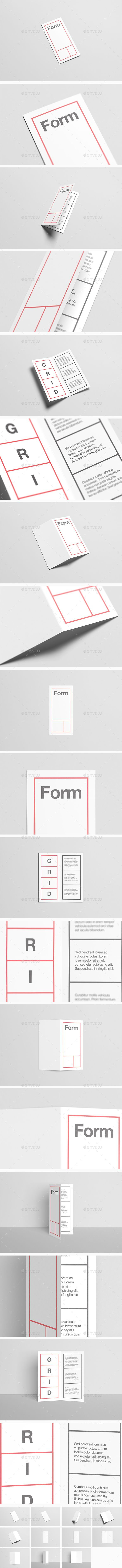 Dl BiFold  HalfFold Brochure MockUp  Mockup And Brochures
