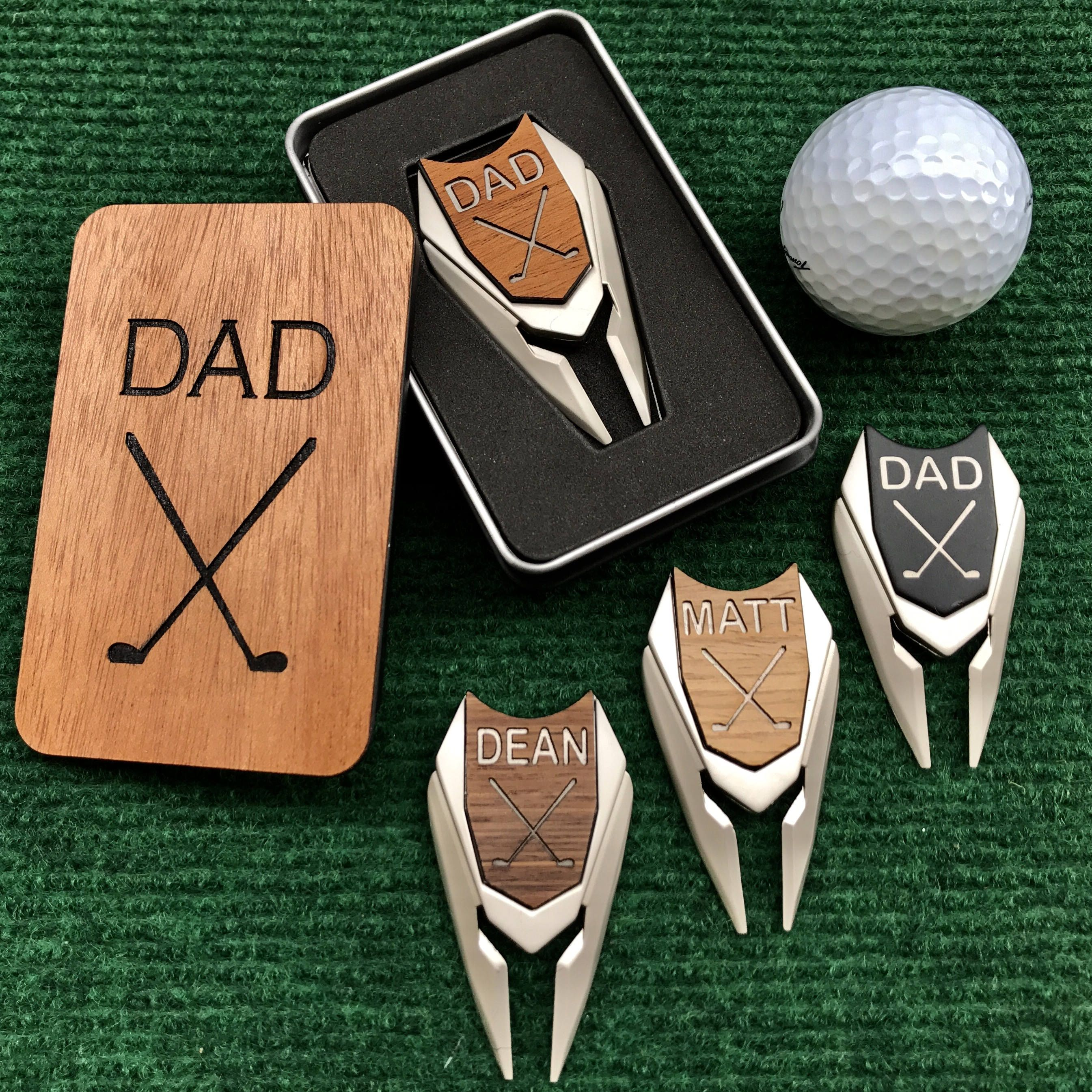 Golf Ball Marker Divot Tool In Gift Box Wood U Like Inc Golf Gifts For Men Golf Birthday Gifts Personalized Golf Ball Marker