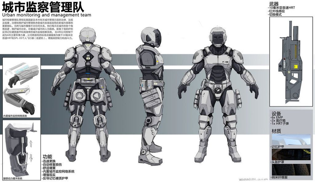 High tech armor Character design, Armor, Sci fi armor