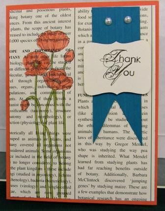 Floral  Card from Stampin' Up! swap