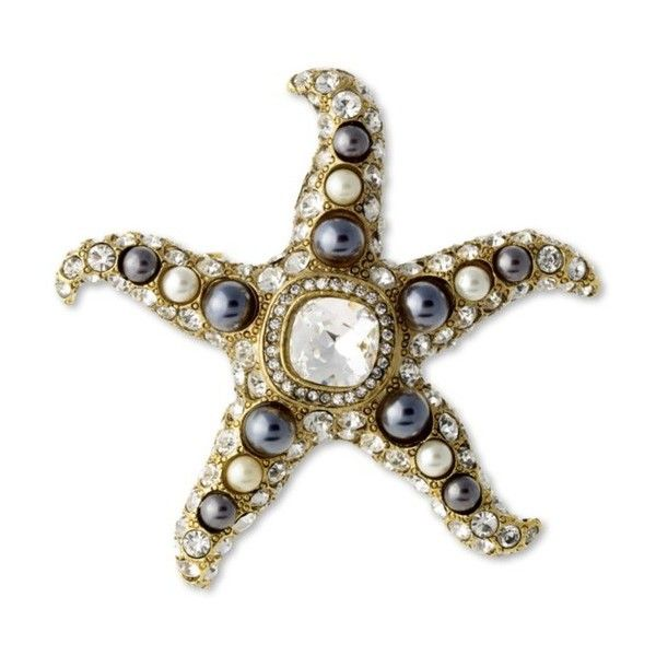 Kenneth Jay Lane Two Toned Pearl Starfish Brooch Two toned pearl 1ZlqLQ1MS