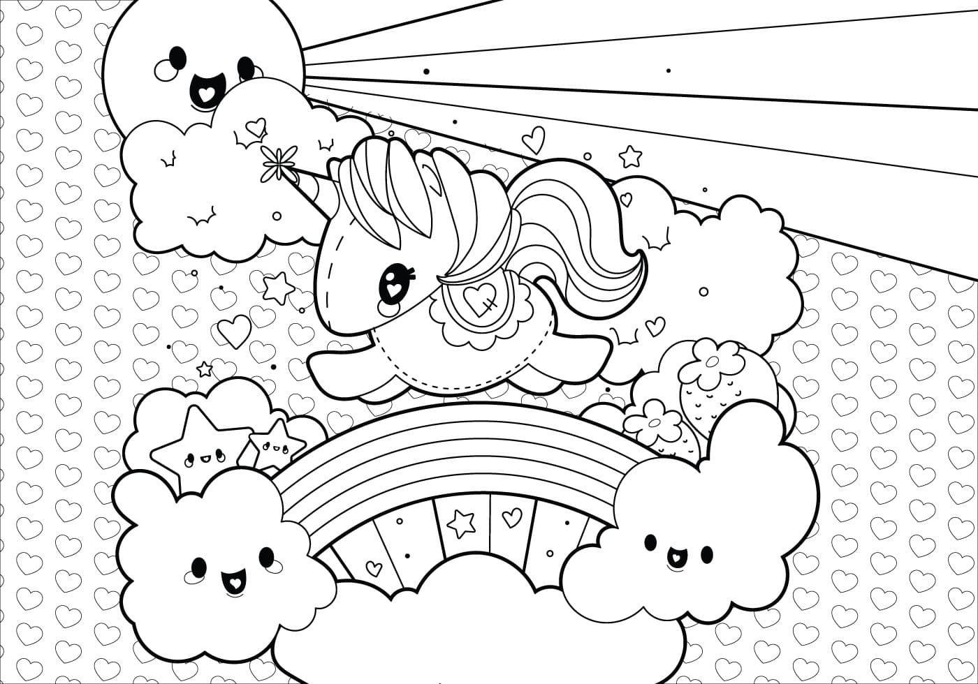 Dibujo De Unicornio Para Colorear Con El Sol Estrellas Nubes Y Arco I Paginas Para Colorear De Navidad Dibujos De Unicornios Paginas Para Colorear Para Ninos