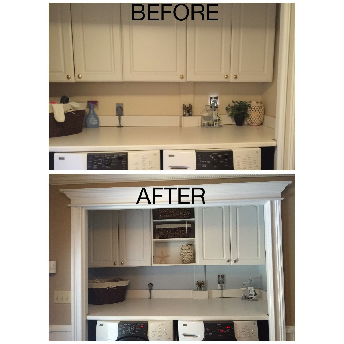 Remove A Cabinet Door Add Baskets And Paint The Wall A Whole New Look Kitchen Appliances Cabinet Cabinet Doors