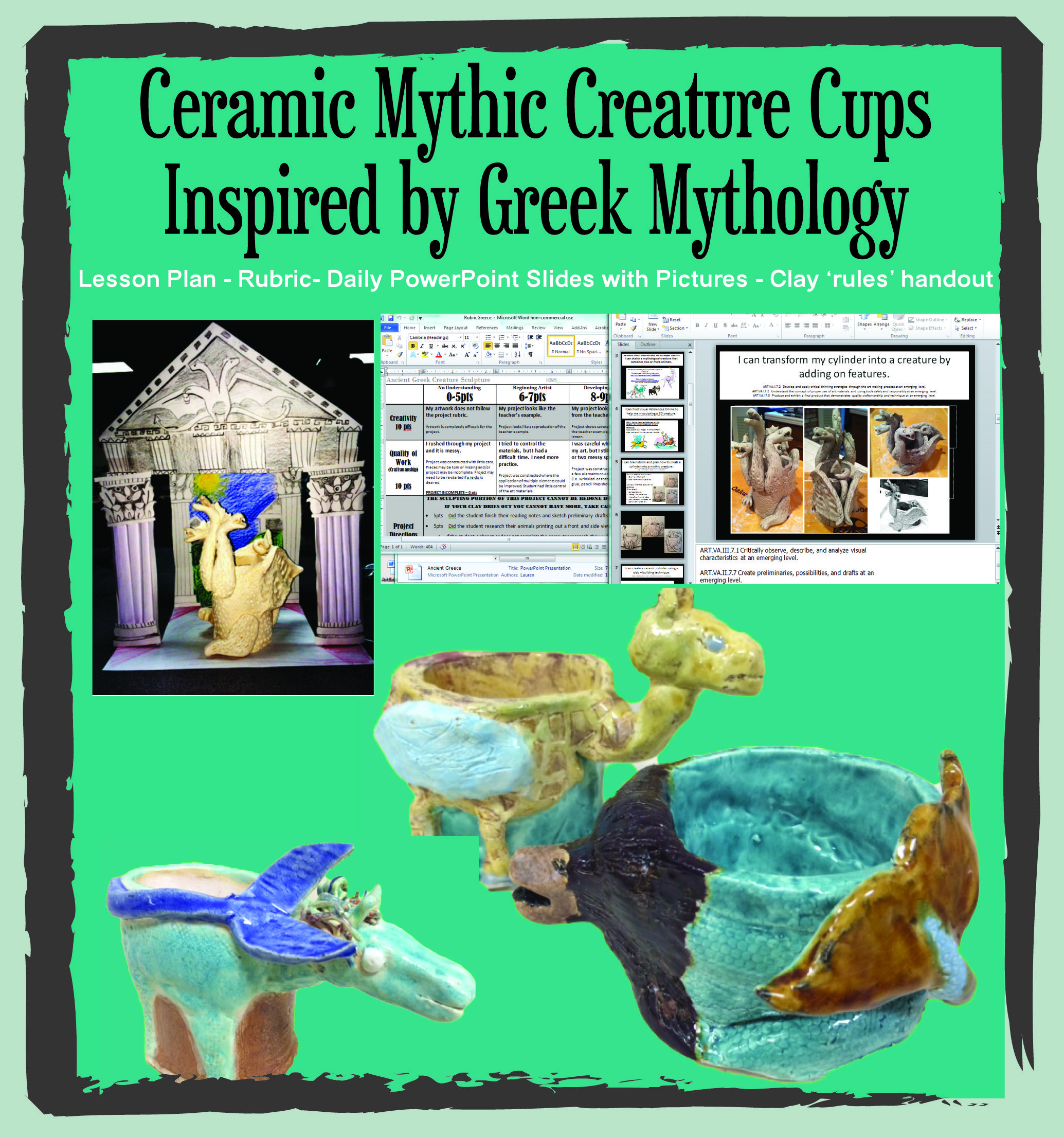 Ancient Greek Detailed Clay Lesson Middle School Lesson