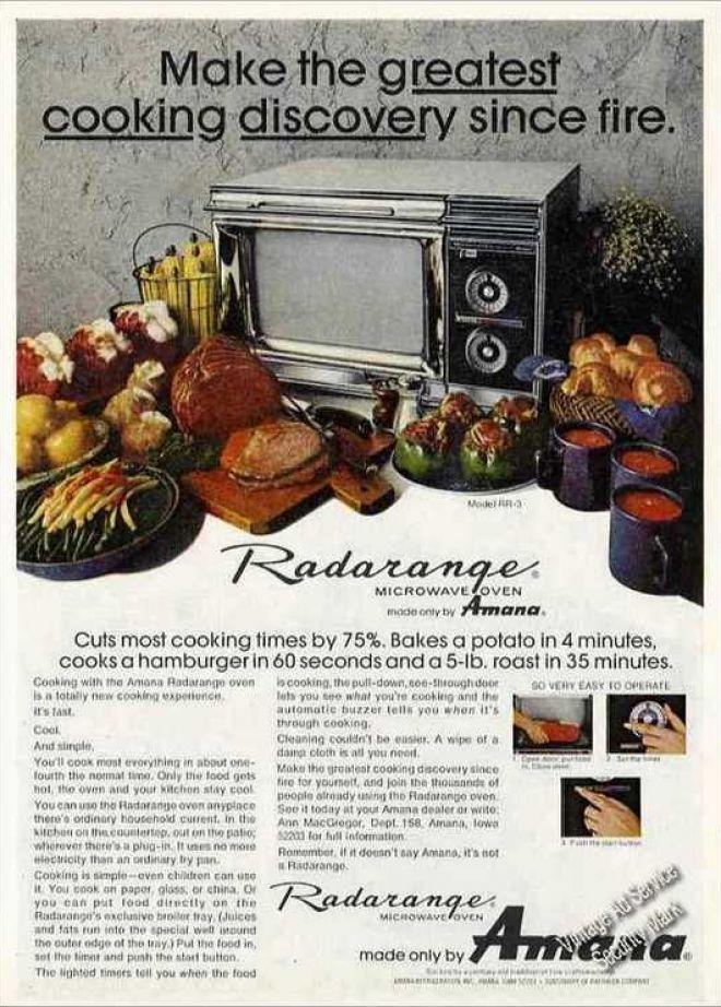 Amana Radarange Microwave 1970s Microwave Oven Www