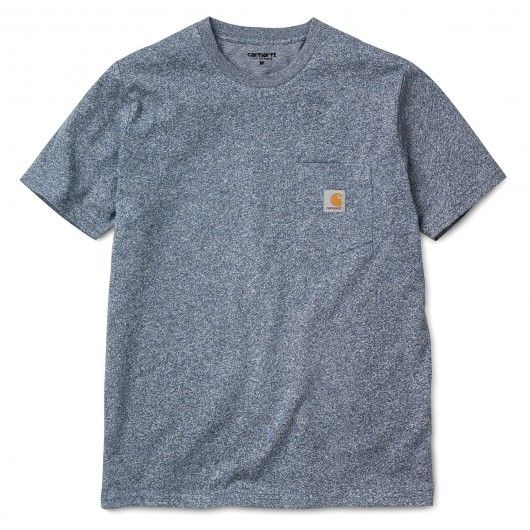 CARHARTT Pocket tee-shirt à poche blue noise heather 29,00 € #skate #skateboard #skateboarding #streetshop #skateshop @playskateshop