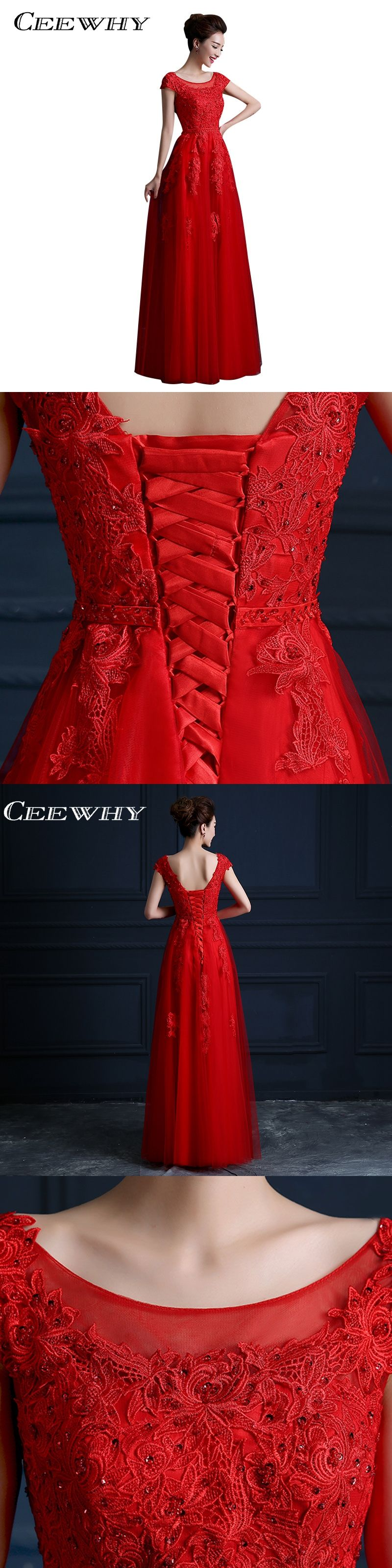 Ceewhy short sleeve embroidery aline evening dress formal