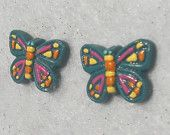 Colorful Butterfly Earrings- Cute handmade earrings for nieces I think ;)