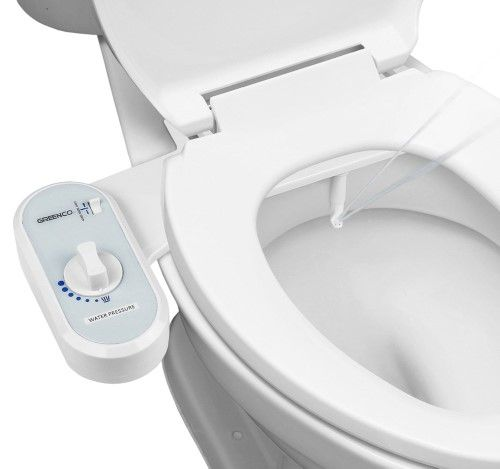 Greenco Bidet Fresh Water Non Electric Mechanical Toilet Seat