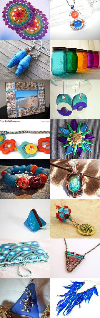 Eco-Friendly Summer by Laura on Etsy--Pinned with TreasuryPin.com #annehermine #trianglebag