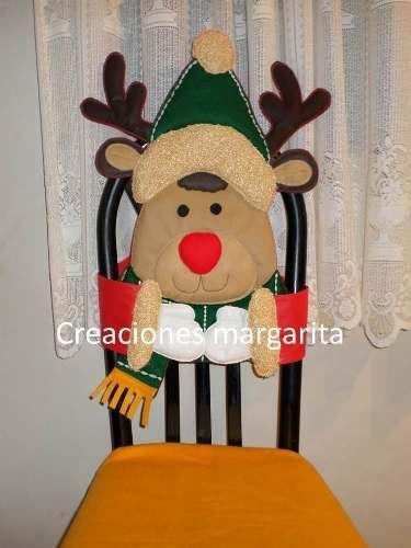Adornos navide os para sillas navidad pinterest en - Adornos navidenos para sillas ...