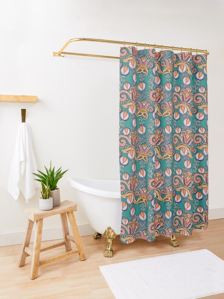 Pin On Shower Curtain Art Design
