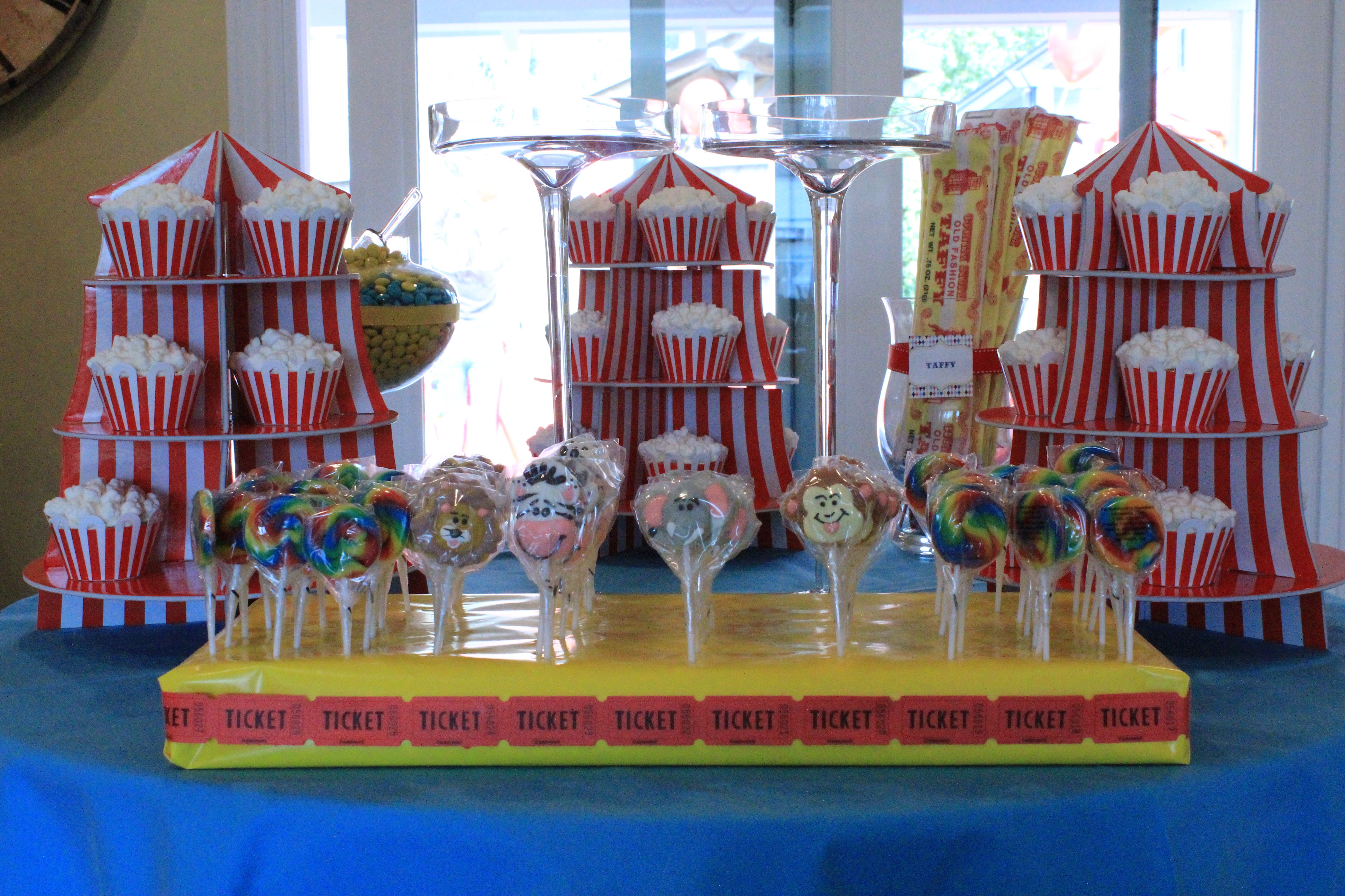 circus carnival dessert table 1 | Kids party, 1st birthday ...