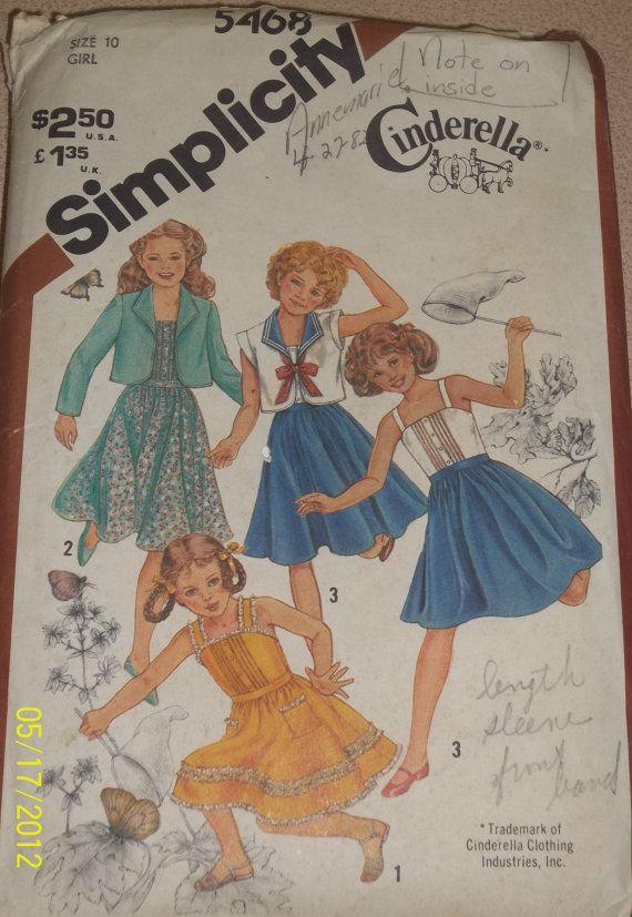 Vintage Simplicity 5468 Girls' pullover sundress by Bigwheel179, $2.00