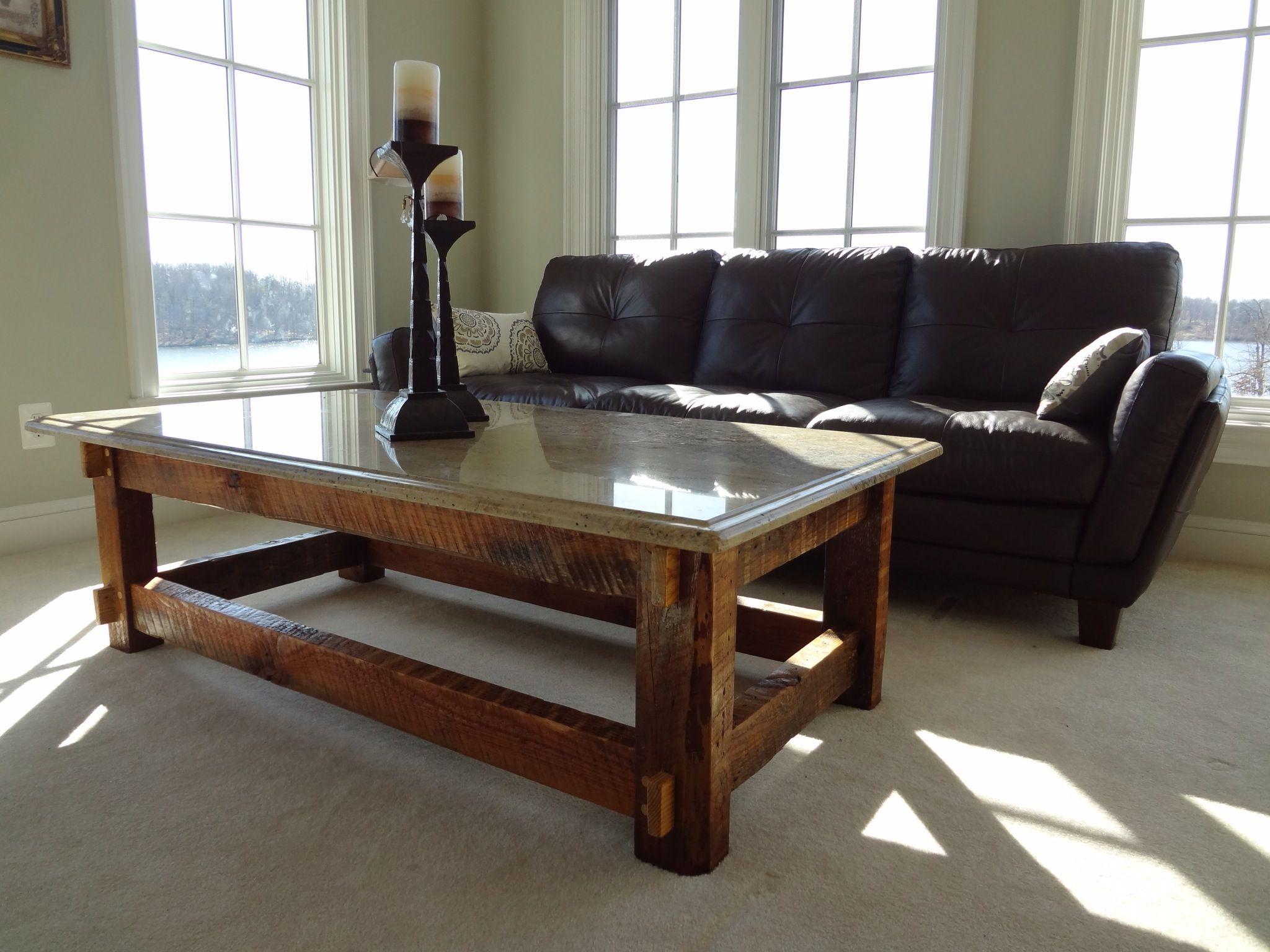 Granite top coffee table photo2 granite coffee table