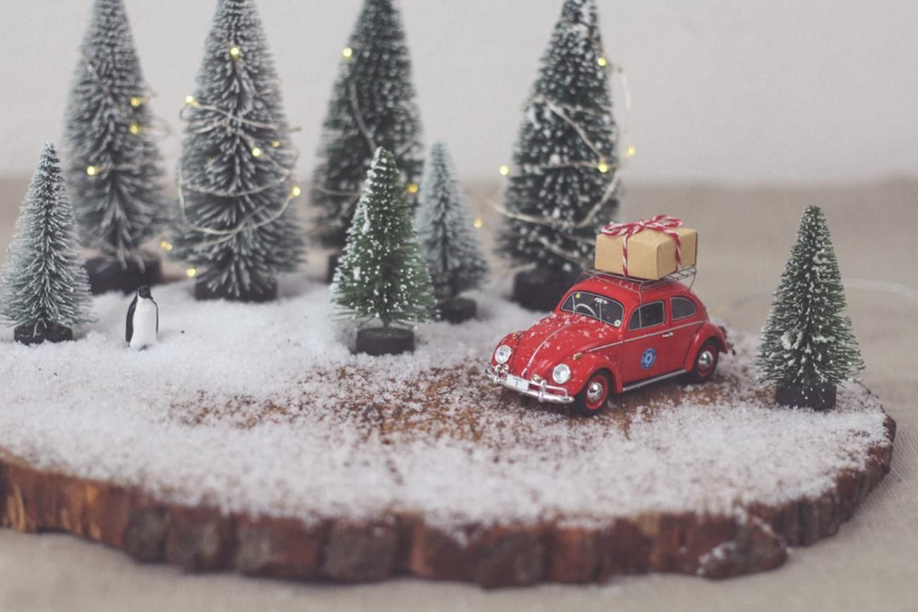 Photo of DIY Winter Wonderland // Winterlandschaft als Weihnachtsdeko | nähmarie