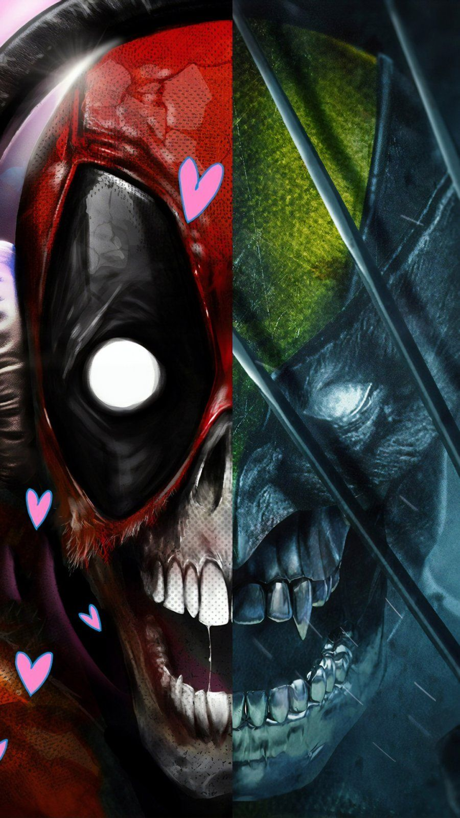Deadpool x Wolverine iPhone Wallpaper in 2020 Iphone
