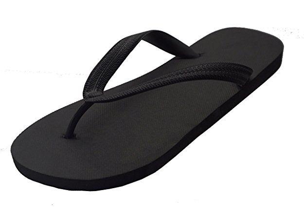 978b707119f3 Feisco Men Top Quality Rubber Flip Flops Thong Sandal Beach Slipper (10 D(M