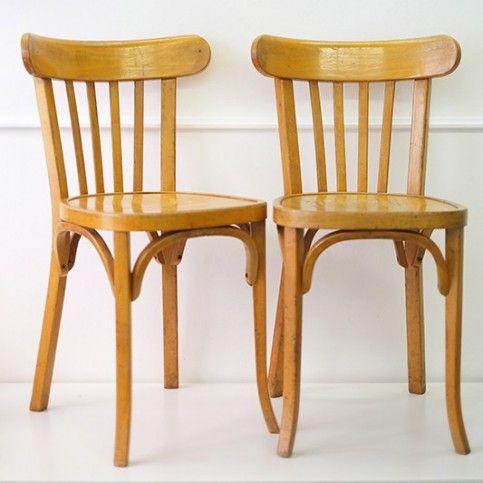 4 chaises baumann style bistrot d co chaises baumann chaise et 4 chaises. Black Bedroom Furniture Sets. Home Design Ideas