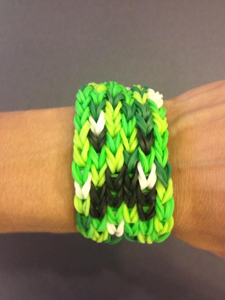Minecraft Creeper Bracelet Rainbow Loom Ideas