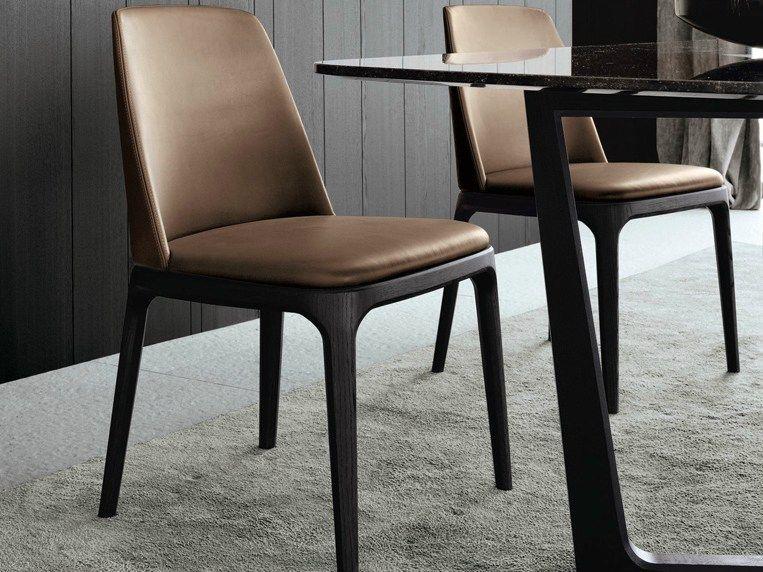 Silla tapizada de cuero industrial pinterest sillas for Comedores tapizados