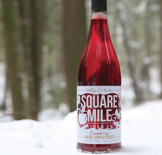 Square Mile Cider Co.'s Holiday Cranberry Cider on Packaging of the World - Creative Package Design Gallery
