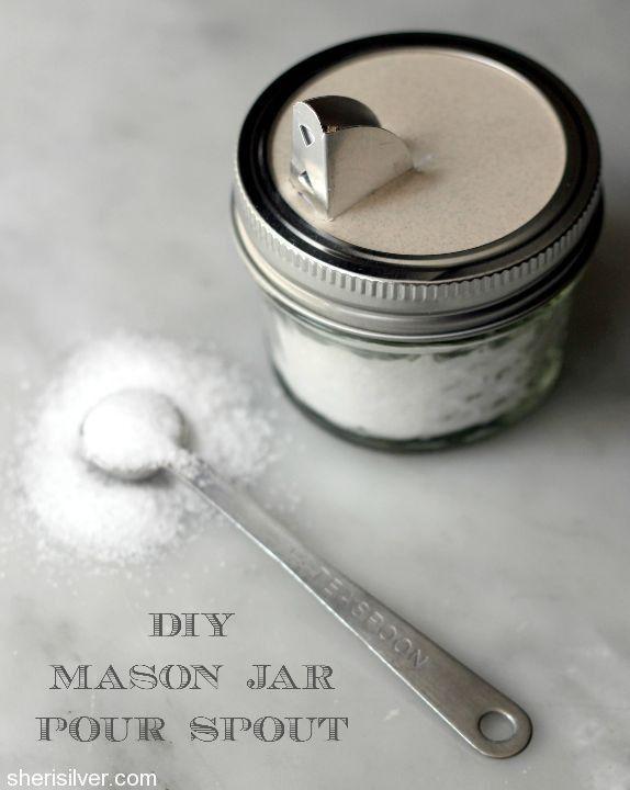 good housekeeping kitchens favor ette mason jar pour spout craft mason jar crafts and reuse