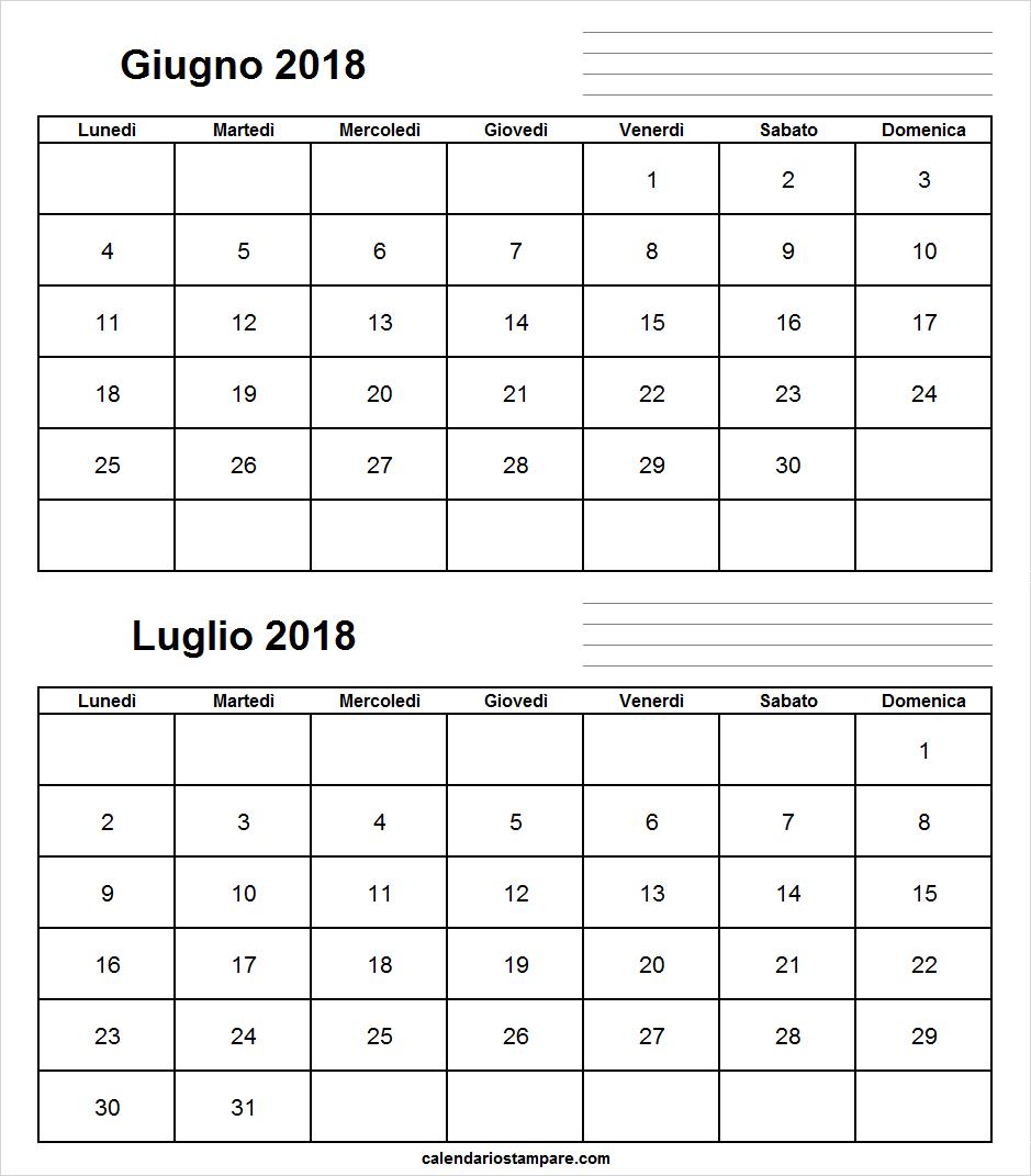 Calendario Giugno E Luglio 2018 Stampabile 2018 Computer Keyboard