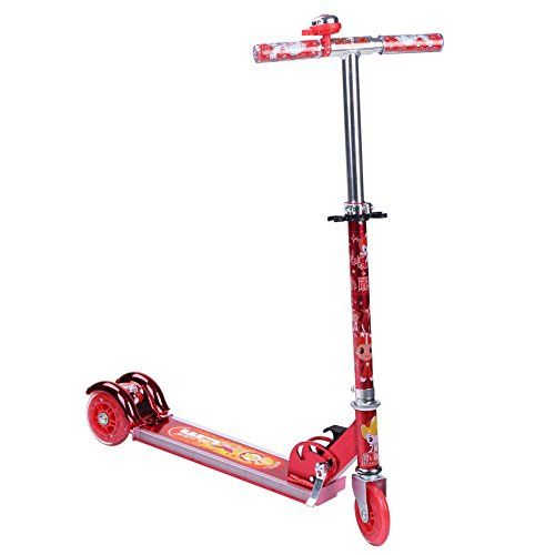 XLM Lightup Three Wheel Folding Music Kick Scooter Xlm2005 Red ** Check out the image by visiting the link.