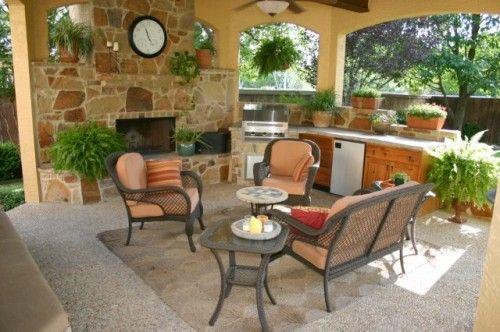 Eclectic Patio Outdoor Gazebo Living Area In Sanantonio Texas Outdoor Kitchen Design Outdoor Living Space Design Outdoor Patio Furniture Sets
