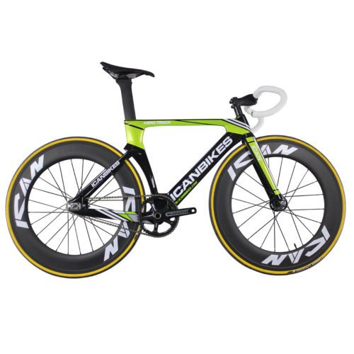 Carbon Fixed Gear Bike Aero Track Bike 49 cm | Sporting Goods ...
