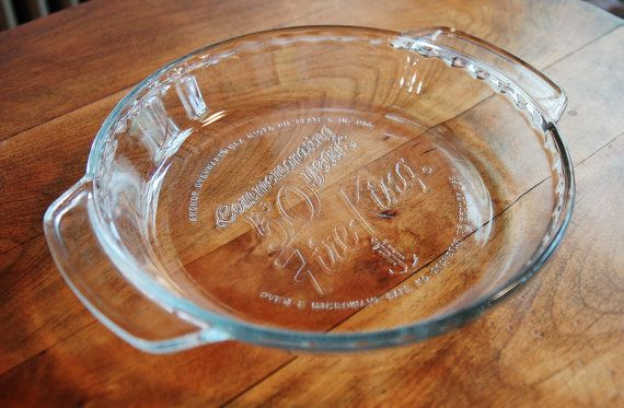 Vintage Fire King 50th Anniversary Anchor Hocking Pie Plate Baking Dish 9 USA