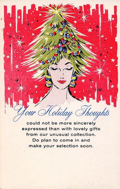 Salesman Sample Christmas Advertising Postcard