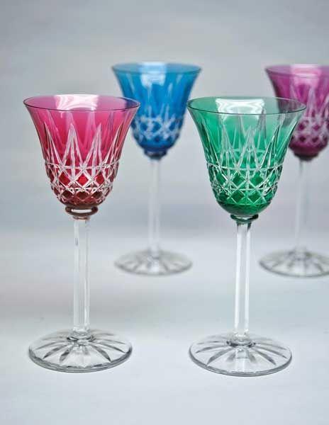 Copas de cristal de colores vajillas copas platos for Copas de cristal