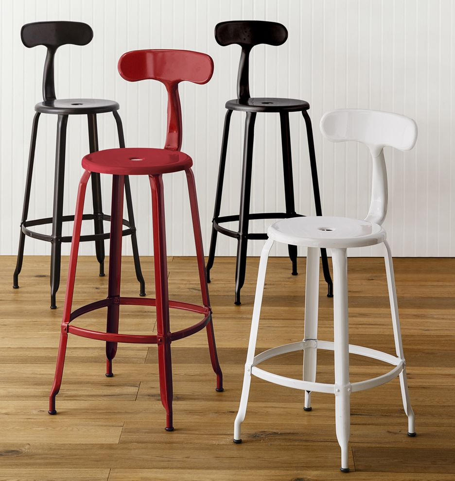 Nicolle Counter Stool With Back Glossy Red Bar Stools With Backs Stools With Backs Bar Stool Furniture