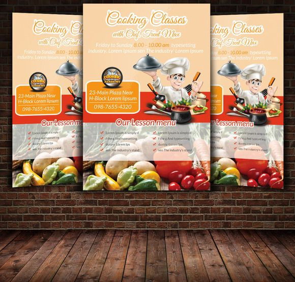 Cooking Class Flyer  Psd Templates Template And Flyer Template
